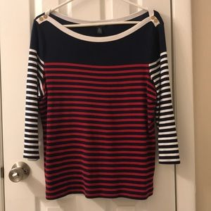 5/$25 Ralph Lauren red white and blue top size XL